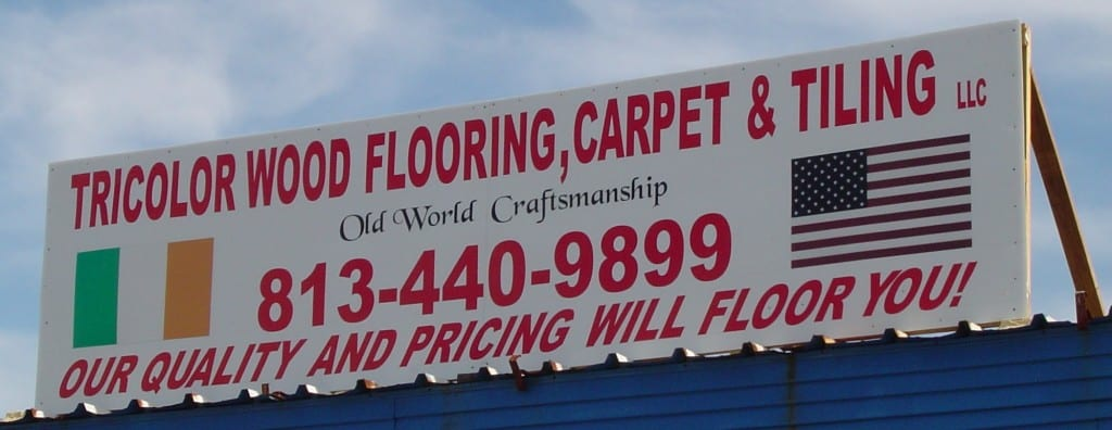 Tricolor Flooring Show Sign