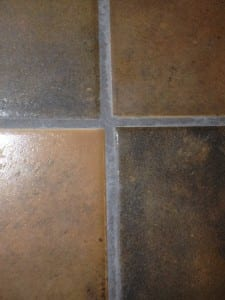 layout of tile with poor craftsmanship