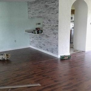 wood flooring installation by tricolor flooring