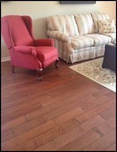 installed harwood engineered floor