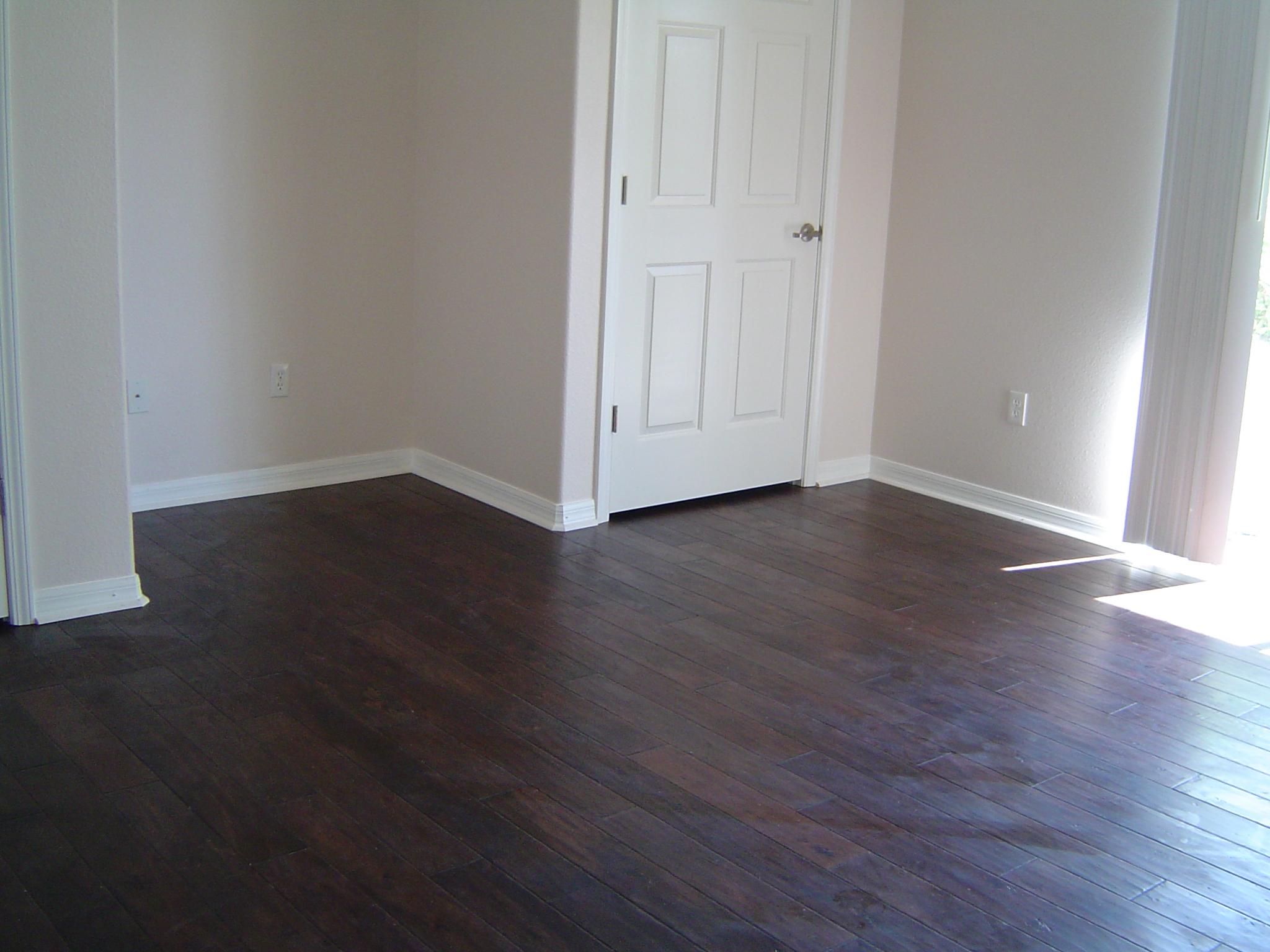 custom wood floor installed by tricolor flooring
