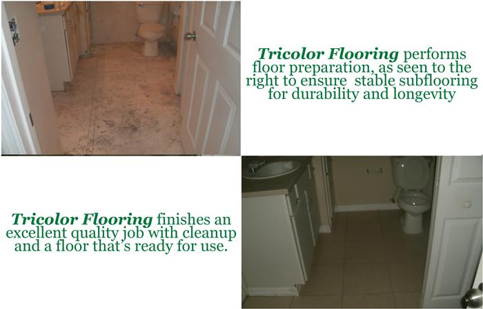 Before and After flooring Istallation