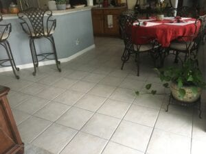 current customer kitchen floor to be replaced