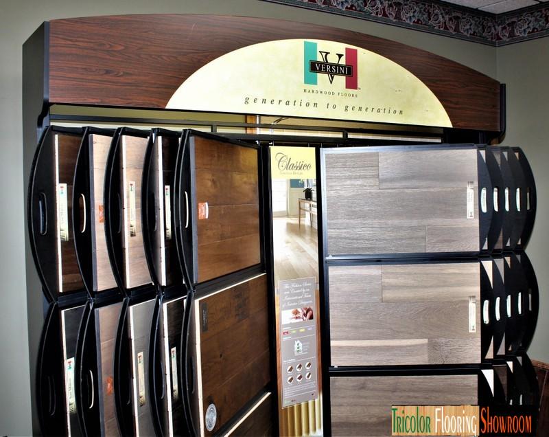 versini hardwood flooring display