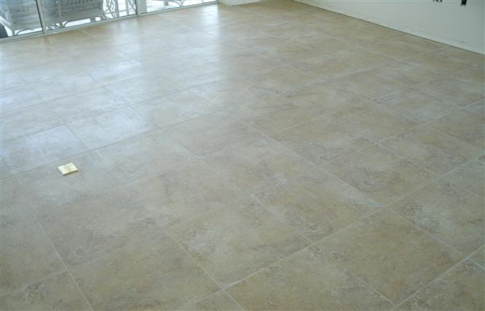 tiled floor installed by tricolor flooring