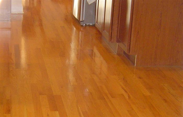 installed wood floor by tricolor flooring